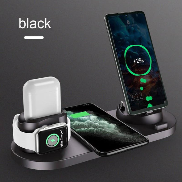 6 in 1 Fast Wireless Charger Stand