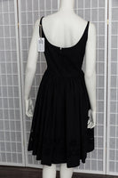 1950's Floral Lace Black Dress