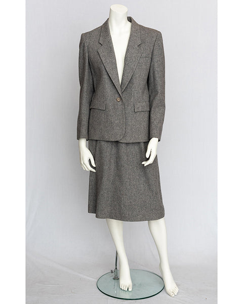 1970's Gray Wool Power Suit