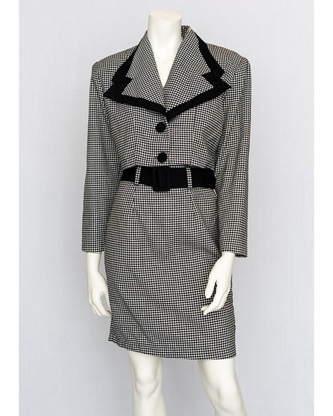 1980's Houndstooth Power Suit