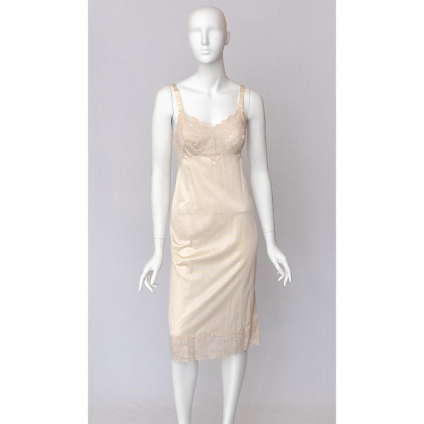 1960's Lace Cream Slip