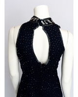 1990's Navy Dress with Silver Sequins