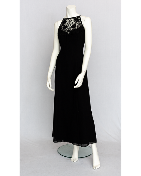 1990's Black Evening Dress