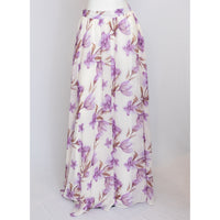 Purple & White Floral Skirt