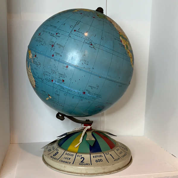 Vintage 8 Inch Magnetic Air Race Globe