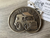 "1976 ""DO IT IN A VAN"" Belt Buckle"