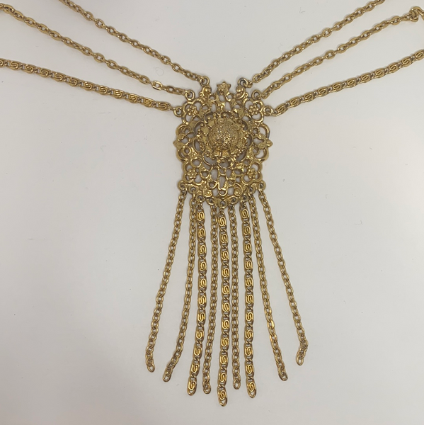Muilti-Chain Fringe Necklaces