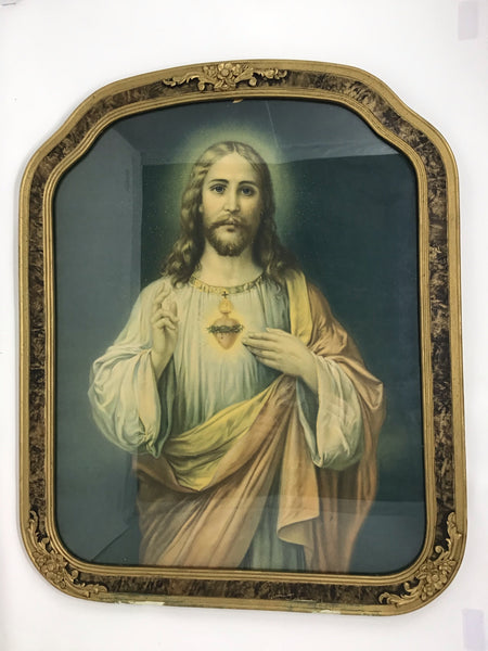 Ornate Framed Sacred Heart