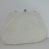 Small Beaded Purse White (Hand Beaded in Japan)