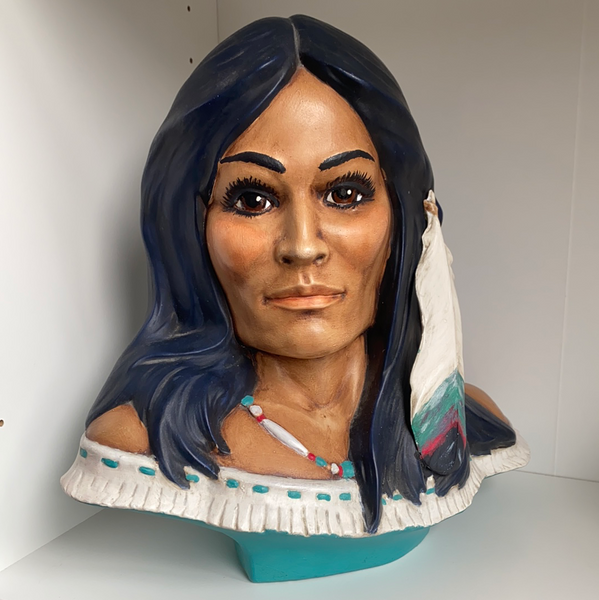 Native American Ceramic Bust