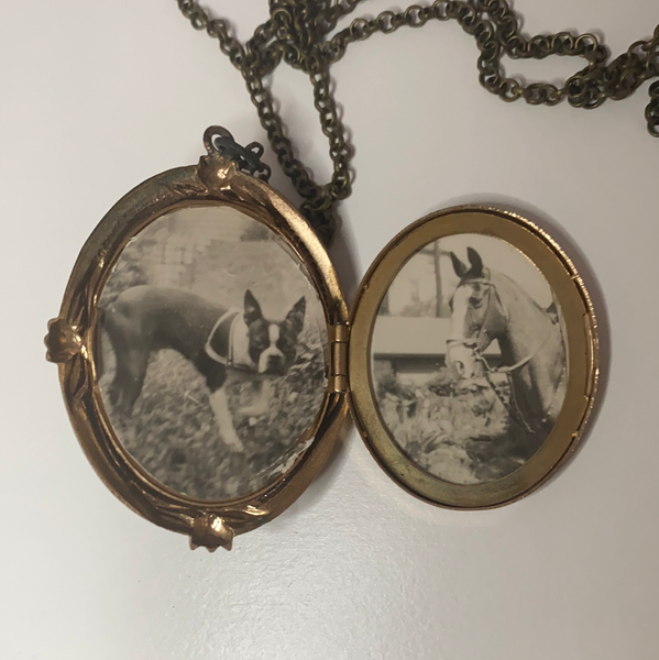 Cameo Locket with Pet Photos
