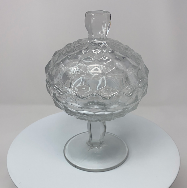 Clear Depression Glass Candy Dish (1930's)