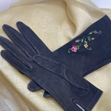 Embroidered Driving Gloves