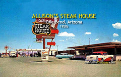 '55 Buick Century at Allison's Steak House c.1955