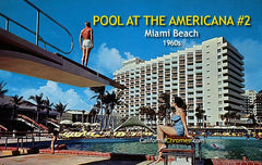Diving at the Americana Hotel, Miami Beach, c.1960