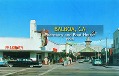 PHARMACY AND BOATHOUSE - Balboa, California 1960s