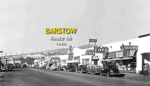 Barstow and Route 66, 1940s
