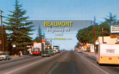 HIGHWAY 99 - BEAUMONT, California 1950s