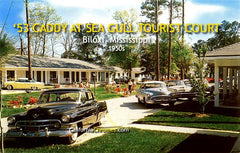 '53 Caddy at Sea Gull Tourist Court Biloxi, MS, c.1955