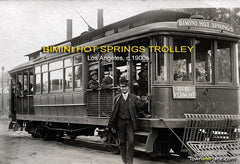 Bimini Hot Springs Trolley, Los Angeles, c.1900s