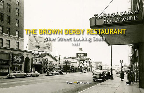 The Brown Derby Restaurant, Hollywood, 1951