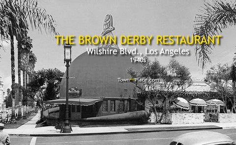 The Brown Derby Restaurant, Wilshire, 1940s