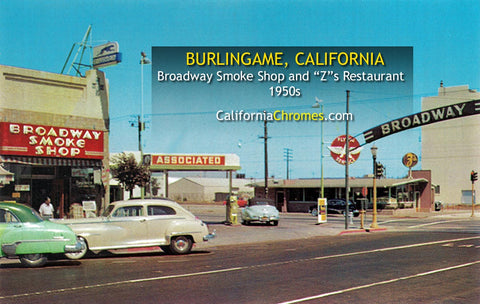 BROADWAY SMOKE SHOP -Burlingame, California 1950s