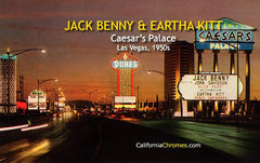 Jack Benny & Eartha Kitt at Caesar's Palace Las Vegas, c.1965