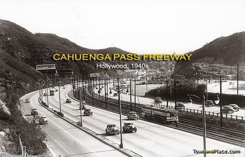 Cahuenga Pass Freeway, Hollywood c. 1940s
