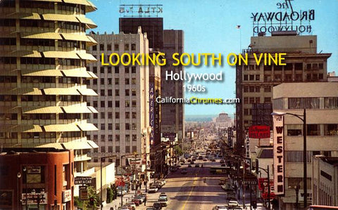 Looking South on Vine Past Capitol Records c.1960s