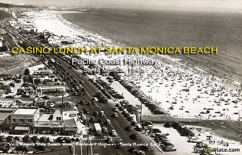 Casino Lunch at Santa Monica Beach, Pacific Coast Highway, Santa Monica , 1940s