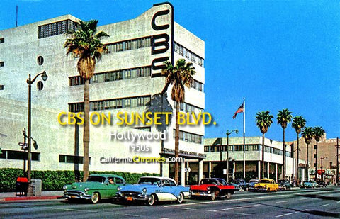 CBS on Sunset Blvd., Hollywood c1950s
