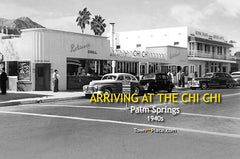 Arriving at the Chi Chi, Palm Springs, 1940s