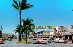 3rd Avenue Looking North from Center Street Chula Vista, c.1958