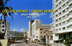 Collins Avenue Looking North Miami Beach, c.1955