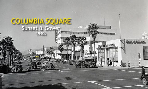 Columbia Square, Sunset & Gower, Hollywood, 1940s