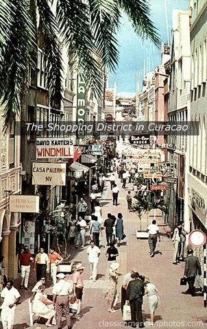 The Shopping District in Curacao c.1965