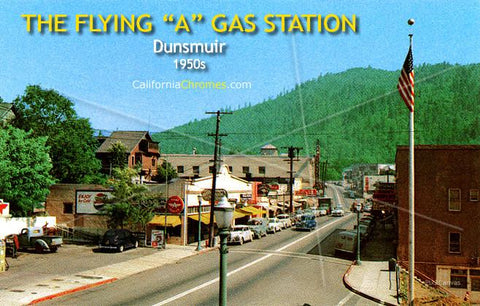 "The Flying ""A"" Gas Station, Dunsmuir, 1950s"
