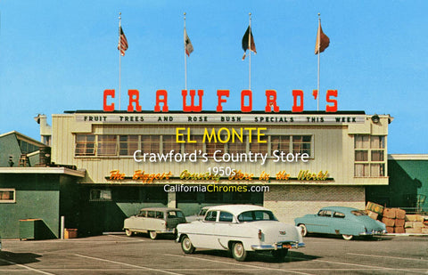 CRAWFORD'S COUNTRY STORE - El Monte, California 1950s