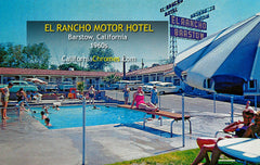 EL RANCHO MOTEL - BARSTOW, California 1960s