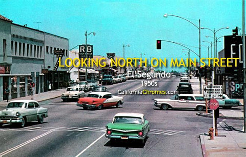 Looking North on Main Street at Grand El Segundo, c.1960