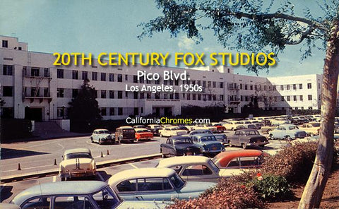20th Century Fox Studios on Pico Los Angeles, c.1955