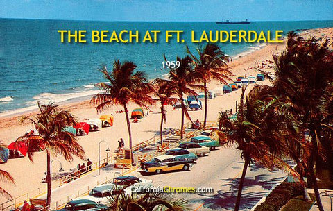 The Beach at Ft. Lauderdale 1959