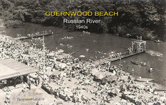 Guernewood Beach on the Russian River, 1940s