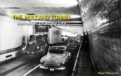 Holland Tunnel, Manhattan to New Jersey, 1950s