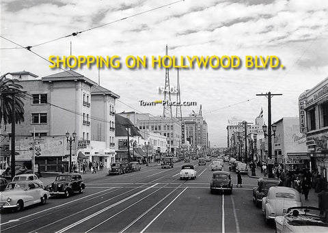 Shopping on Hollywood Blvd, 1940s