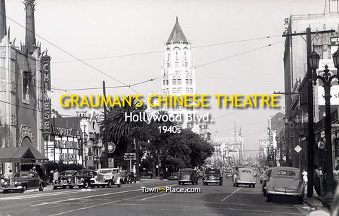 Grauman's Chinese Theatre, Hollywood, 1940s