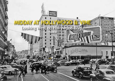 Midday at Hollywood & Vine, 1940s