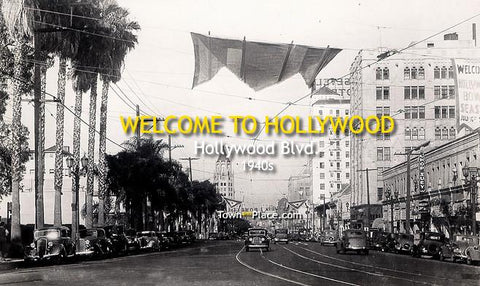Welcome to Hollywood, Hollywood Blvd, 1940s