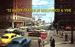 '55 Kaiser Manhattan at Hollywood & Vine 1955
